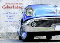 Postkarte Oldtimer Glückwünsche Geburtstag (10 Stck) Grusskarte Adressfeld