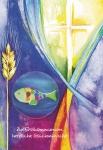 Postkarte Glasmagnet Erstkommunion (3 St) Glückwunschkarte Kommunion Grußkarte
