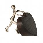 Bronzefigur Ich schenke dir mein Herz 11 cm
