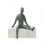Bronzefigur Alex sitzend 14 cm Bronze Skulptur