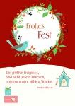 Postkarte Frohes Fest (10 Stck) Friedrich Nietzsche Weihnachtskarte Adressfeld