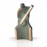 Bronzeskulptur Gitarrist 12 cm patiniert Bronze Figur