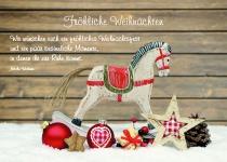 Postkarte Fröhliche Weihnachten (10 Stck) Pferd Nicole Weidner Weihnachtskarte