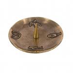 Kerzenständer 4 christliche Symbole Bronze 11 cm Kerzenhalter Kommunion Taufe