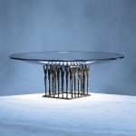 Glasschale Zusammen Ø 42 cm / Skulpturen 11x11 cm Mitarbeitergeschenke