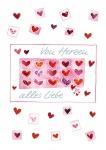 Glückwunschkarte Von Herzen alles Liebe (6 Stck) Grußkarte Kuvert