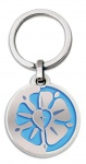 Schlüsselanhänger Luther-Rose blau 7 cm Christlich