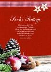 Postkarte Frohe Festtage (10 Stck) Weihnachtskarte Pater Adalbert Ludwig Balling