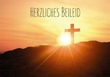 Trauerkarte Herzliches Beileid (6 Stck) Bibel Psalm 27 Beileidskarte Kondolenz