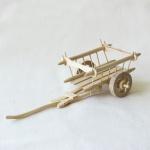 Karren, handgefertigt Holz, 6 x 22 x 10 cm