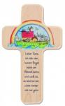 Kreuz für Kinder Arche Noah 18 cm Kruzifix Holz-Kreuz Geschenkbox Wandkreuz