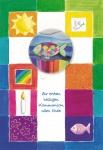 Postkarte Glasmagnet zur ersten heiligen Kommunion (3 St) Glückwunschkarte