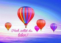 Postkarte zum Geburtstag Hoch sollst du leben! (10 Stck) Glückwunschkarte