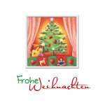 Weihnachtskarte Frohe Weihnachten (3 Stck) Prägemotiv Kuvert