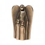 Schutzengel mit zwei Kindern Bronzefigur 7 cm Engel Figur Kerstin Stark