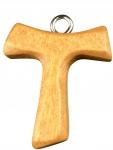 Tau Schmuckkreuz Franziskus Kreuz 3, 5 cm Holzkreuz Antonius Kreuz Tanne