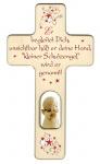 Kreuz für Kinder Schutzengel Gebet Baby Engel 20 cm Kruzifix Holz-Kreuz