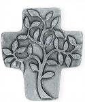 Symbolkreuz Lebensbaum aus Neusilber 10 x 9 cm