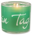 Glaswindlicht Heute ist dein Tag! 6, 5 cm Teelicht Kerzenhalter