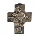 Kommunionkreuz aus Bronze 10, 5 cm Wandkreuz