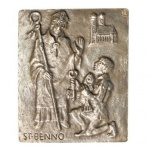 Namenstag Benno Bronze 13 x 10 cm Wandrelief