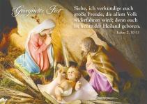 Postkarte Gesegnetes Fest (10 St) Weihnachten Heilige Familie Grußkarte