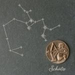 Wandrelief Sternzeichen Schütze Schiefer Swarovski 14, 5 cm Schiefertafel