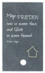 Schiefertafel Haussegen zum Aufstellen 10 x 6 cm Haussegen Spruch