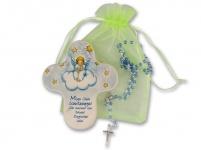 Kommunion Schutzengel Rosenkranz Geschenk-Set Geschenk zur Erstkommunion