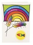 Glückwunschkarte Herzliche Glückwünsche zur Erstkommunion (5 St) mit Radiergummi