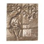 Namenstag Bernhard von Clairvaux Bronze 13 x 10 cm
