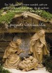 Postkarte Gesegente Weihnachten (10 St) Krippe Grußkarte Bibelwort