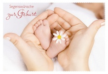 Segenswünsche zur Geburt (6 Stck) Markus 10 Psalm Bibel Glückwunschkarte Geburt