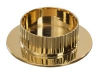 Kerzenhalter Messing Struktur goldfarben 11 cm Kerzenleuchter Kommunion Kerze