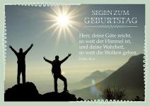 Postkarte zum Geburtstag mit Psalm 36, Segen (10 Stck)
