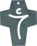 Wandkreuz Jesus Christus Schiefer Kruzifix 10 cm Kreuz Geschenkverpackung