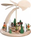 Weihnachtspyramide Bogen Waldleute 25 cm Seiffen Erzgebirge Handarbeit Holz