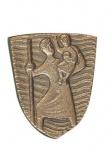 Autoplakette Christophorus 3, 6 cm Bronze