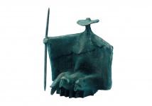 Bronzeskulptur Stehender Schäfer 20 cm Bronze Figur