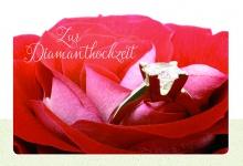 Hochzeitskarte Zur Diamanthochzeit (3 Stck) Glückwunschkarte Kuvert