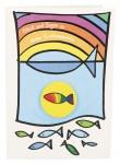 Glückwunschkarte Glück und Segen zu deiner Erstkommunion (5 St) mit Radiergummi