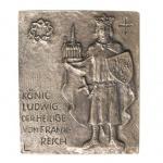 Namenstag Ludwig von Frankreich Bronze 13 x 10 cm Namenstag Geschenk