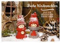 Postkarte Frohe Weihnachten (10 Stck) Tannenzapfen Adressfeld Weihnachtskarte