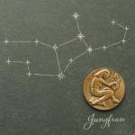 Wandrelief Sternzeichen Jungfrau Schiefer Swarovski Schiefertafel Wandbild Deko