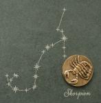 Wandrelief Sternzeichen Skorpion Schiefer Swarovski