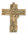 Wandkreuz Gnadenstuhl Bronze Kreuz 10 x 8 cm Karl Grasser Handarbeit Bronzekreuz