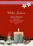 Postkarte Heller Schein (10 Stck) Spruch Weihnachtskarte Adressfeld