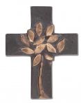 Wandkreuz Bronzekreuz Lebensbaum Wanddekoration Kreuz 10, 5 cm Schmelter Raimund