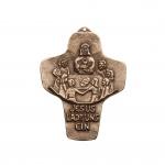 Wandkreuz Bronze Kreuz Jesus lädt uns ein 9, 5 cm Kommunion Peters Jürgen