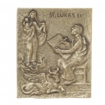 Namenstag Lukas Bronzeplakette 13 x 10 cm Namenspatron